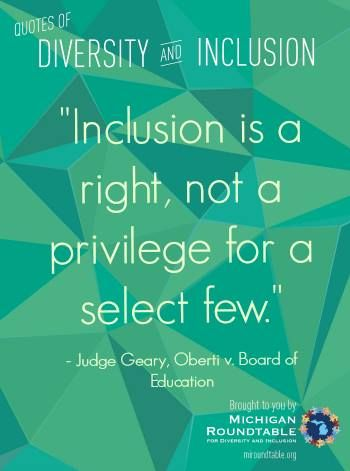 Diversity Quotes Alluring Quotes Of Diversity & Inclusion From The Michigan Roundtable . 2017