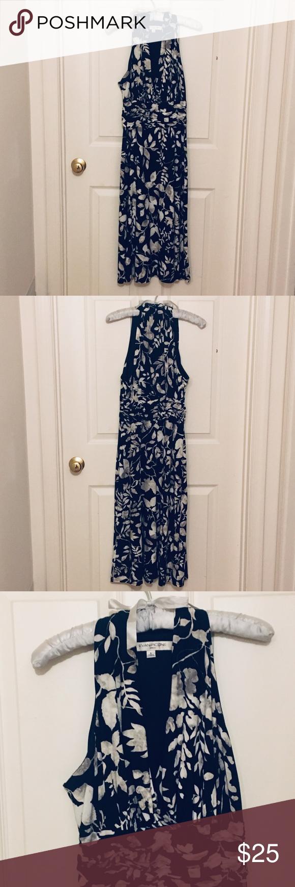 Evan picone black and white dress in my posh picks