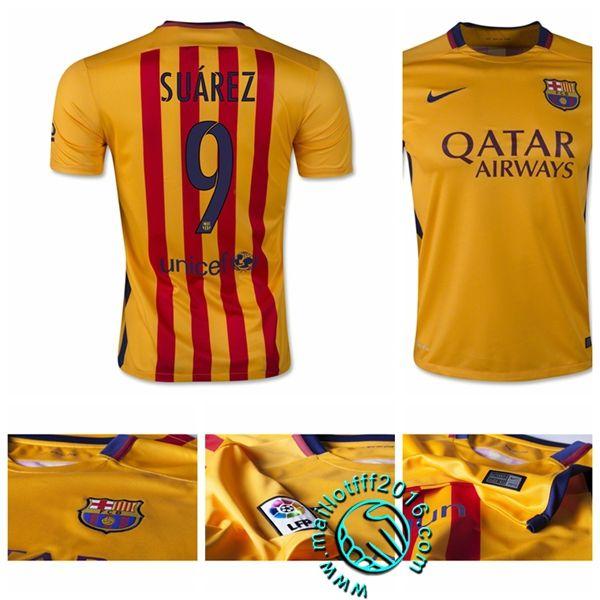 Maillot FC Barcelone (SUAREZ 9) Extérieur 2015-16