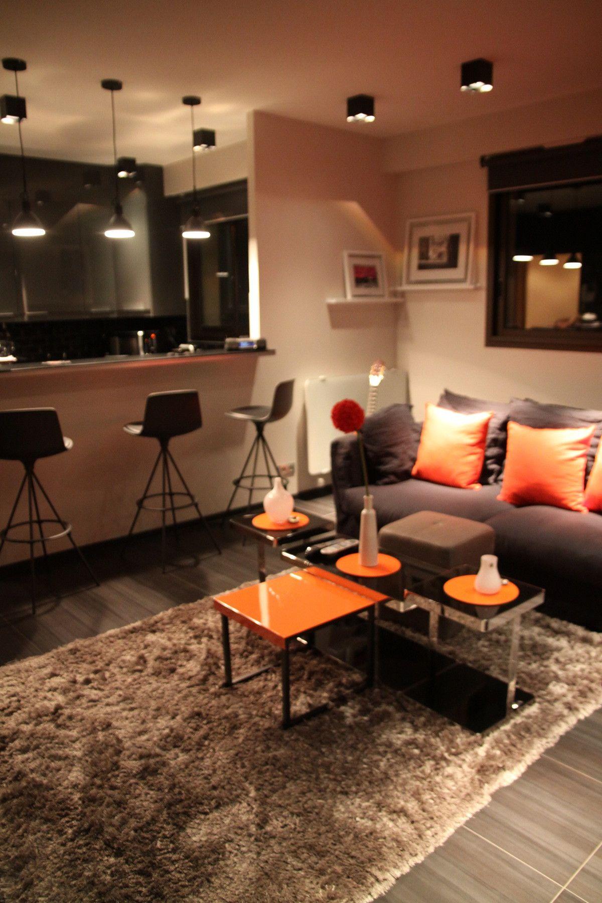 Photos Déco Idées Décoration Pour Un Salon De A M Tout - Deco salon salle a manger gris pour idees de deco de cuisine