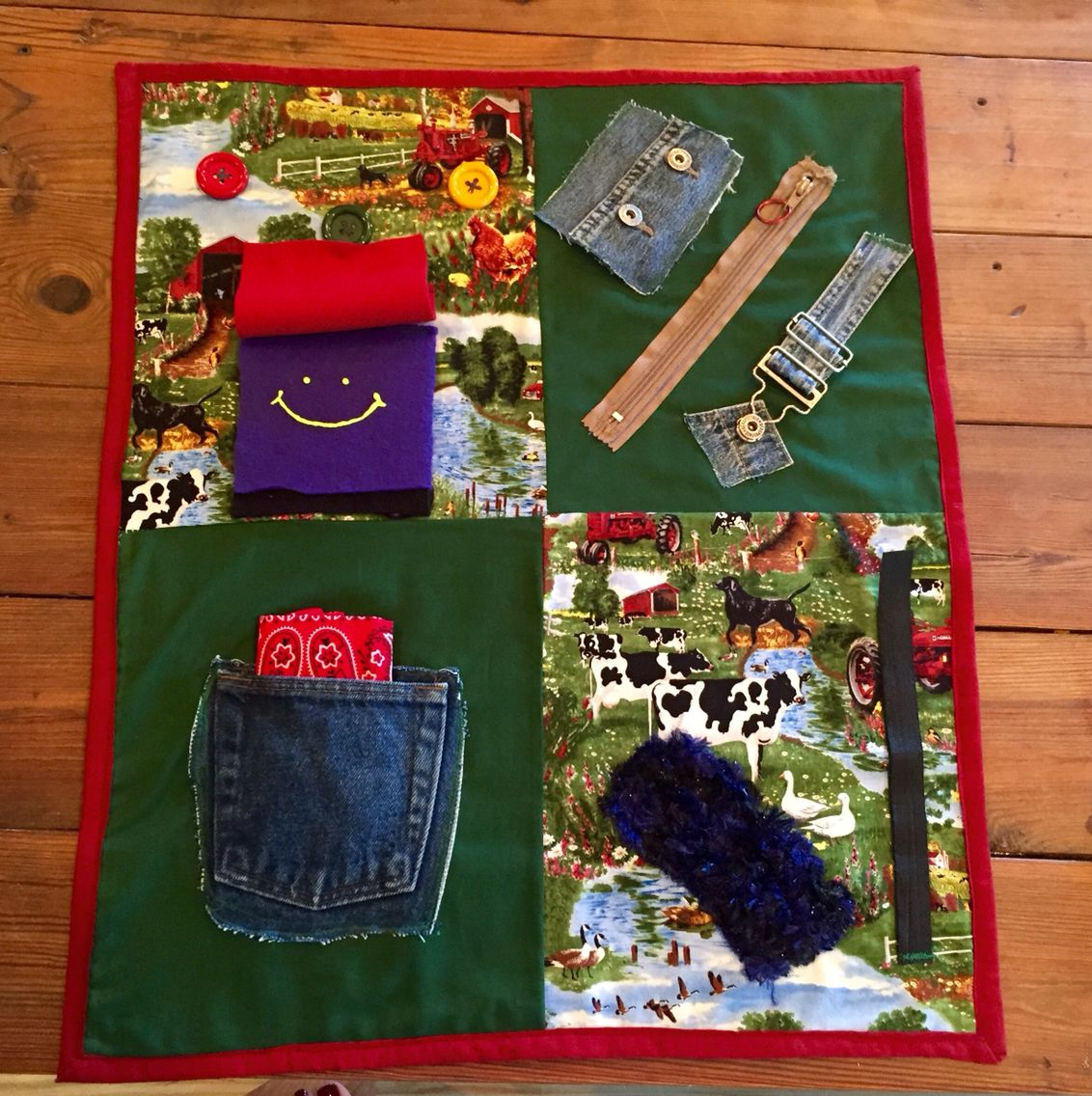 Men S Farmer Fidget Quilt For Alzheimer S Amp Dementia