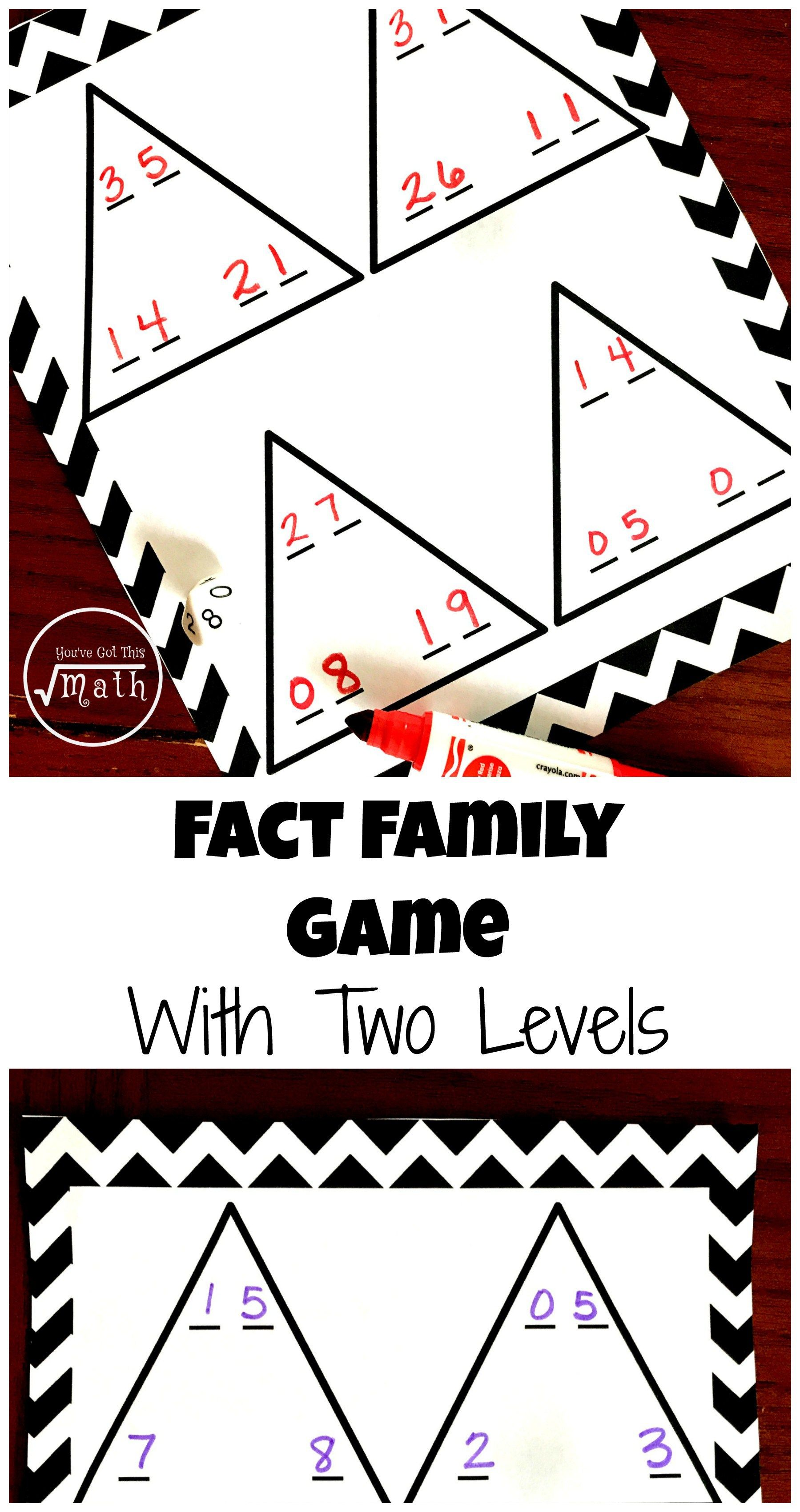Two Fact Family Game Boards To Practice Addition And