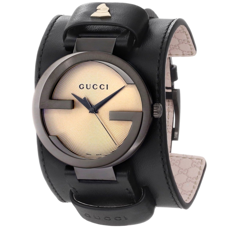 472d29e59da Gucci Men s YA133202  Grammy XL Interlocking  Yellow Dial Black Strap  Special Edition Watch
