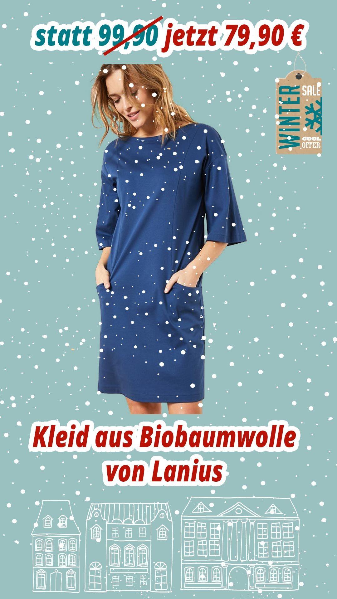 Kleid-aus-Biobaumwolle von Lanius im Winterschlussverkauf bei Kult