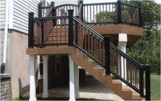 Two Story Decks With Stairs We Make Decks Built To Your