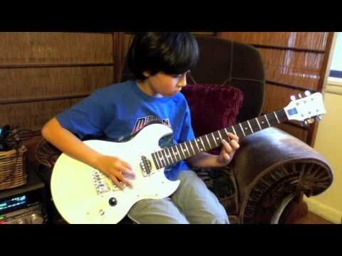 9 Year Old Kid Plays Comfortably Numb Guitar Solo By Pink Floyd Kids Playing Guitar Solo Pink Floyd