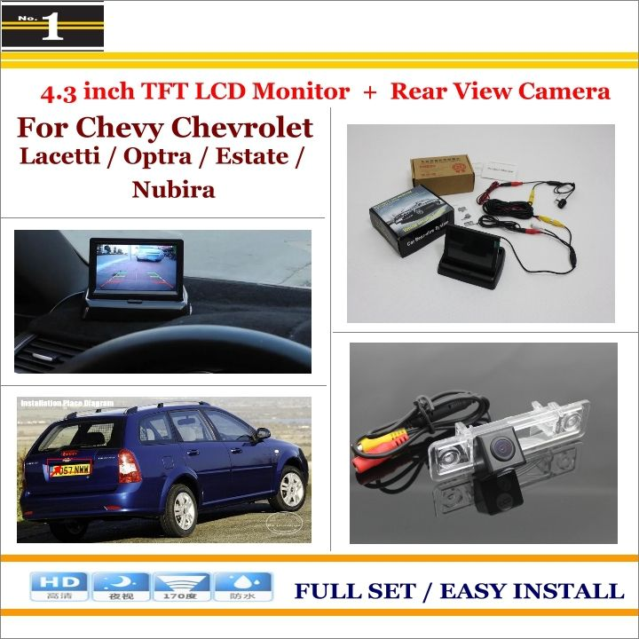 "Car Rearview Camera + 4.3"" LCD Screen = 2 in 1 Parking Assistance System - For Chevy Chevrolet Lacetti / Optra / Estate / Nubira"
