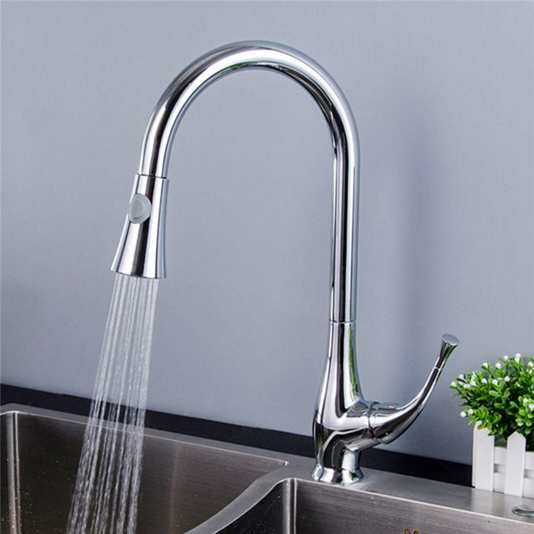 キッチン蛇口 引出し式水栓 台所水栓 冷熱混合水栓 整流 シャワー吐水