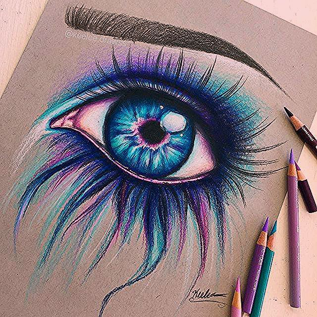 Photo of Hello everybody! here is another colorful eye! that was just a still arts anothe…