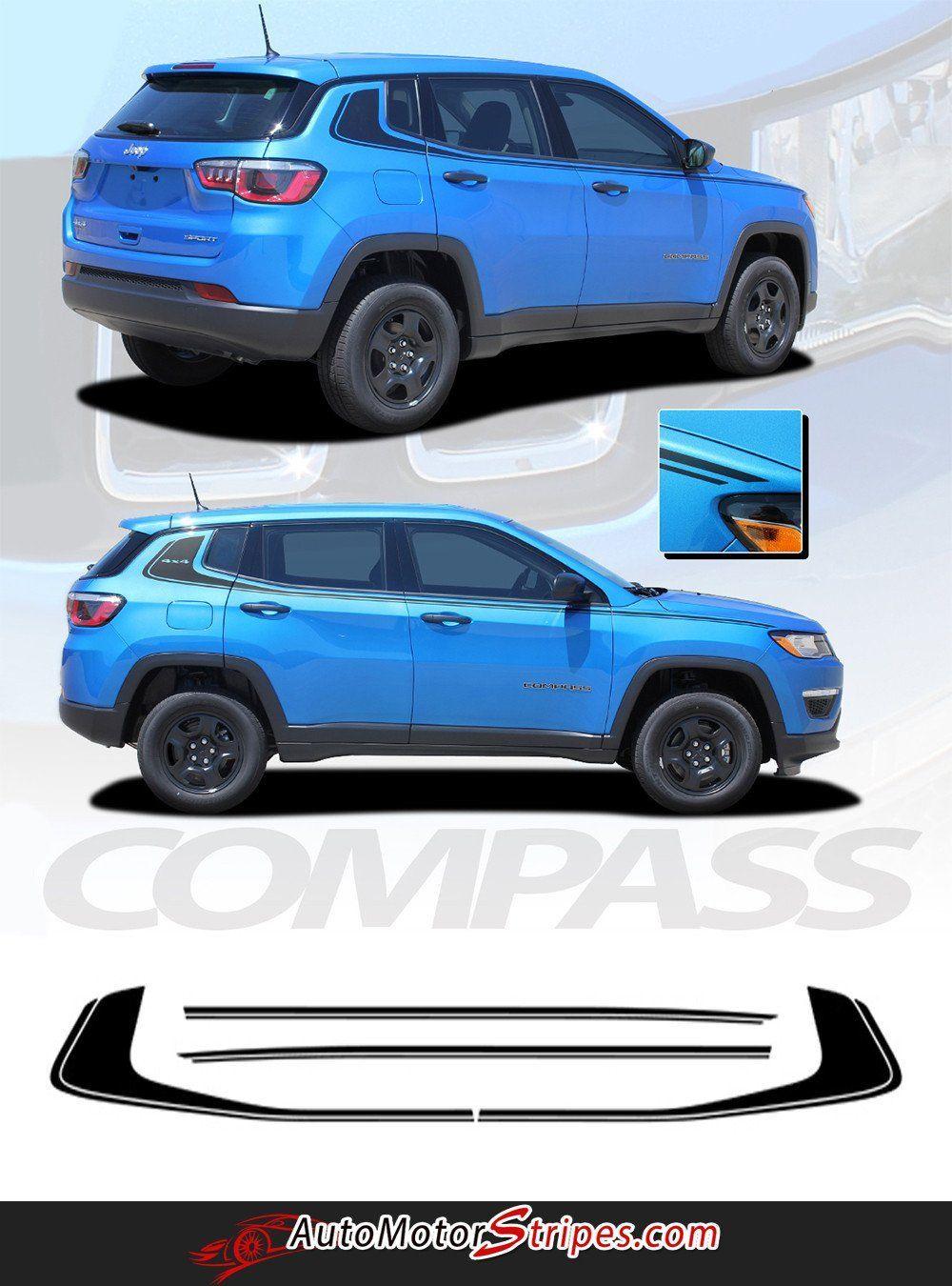 2017 2018 Jeep Compass Stripes Vinyl Graphics Decals Door Body Line Accent 3m Altitude