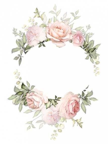 39 Ideas For Wedding Vintage Card Ideas Flower Wreath Illustration Wreath Illustration Flower Frame