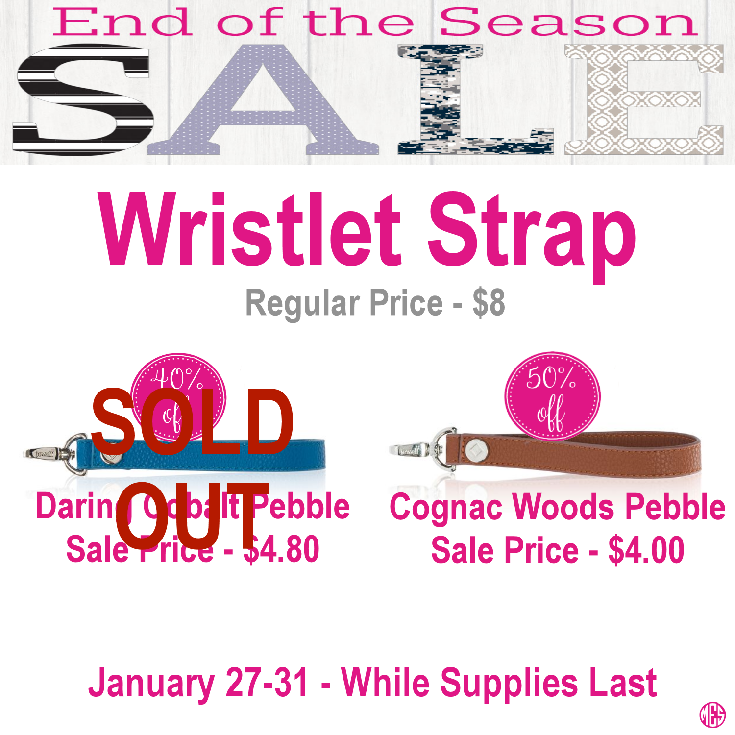 Thirty-One Wristlet Strap is on sale during End of the Season Sale