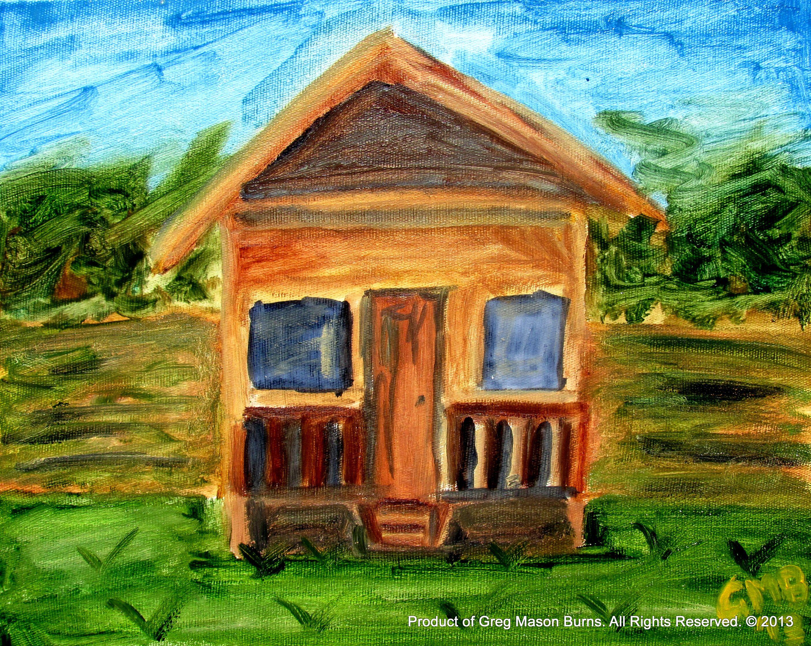 Brasilian Farmhouse Oil on Canvas (2013) 24 x 30 cm  www.gregmasonburns.com Prints - http://fineartamerica.com/featured/brasilian-farmhouse-greg-mason-burns.html