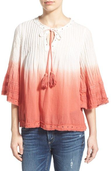 Tularosa 'Huxley' Ombre Cotton Blouse
