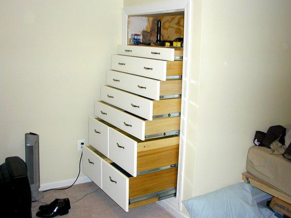 Images Of Built In Dressers Custom Made Built In Knee Wall