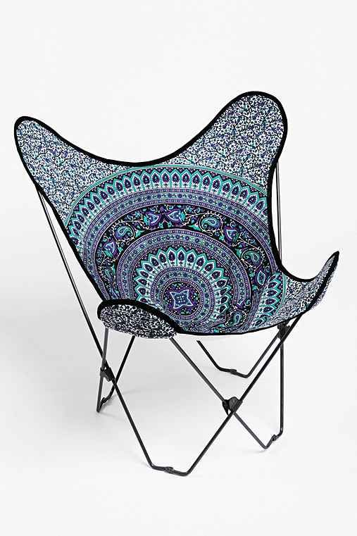 Perfect Magical Thinking Medallion Butterfly Chair Cover   Urban Outfitters