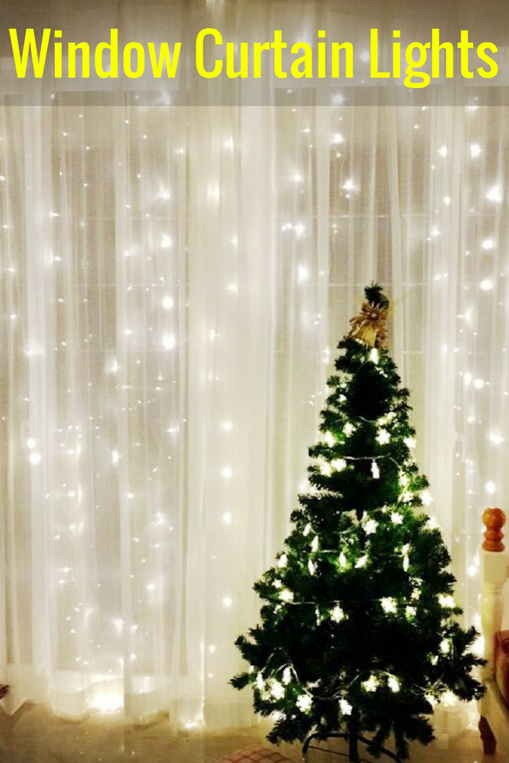 OMGAI Window Curtain Icicle String Lights of 300LED for Christmas ...