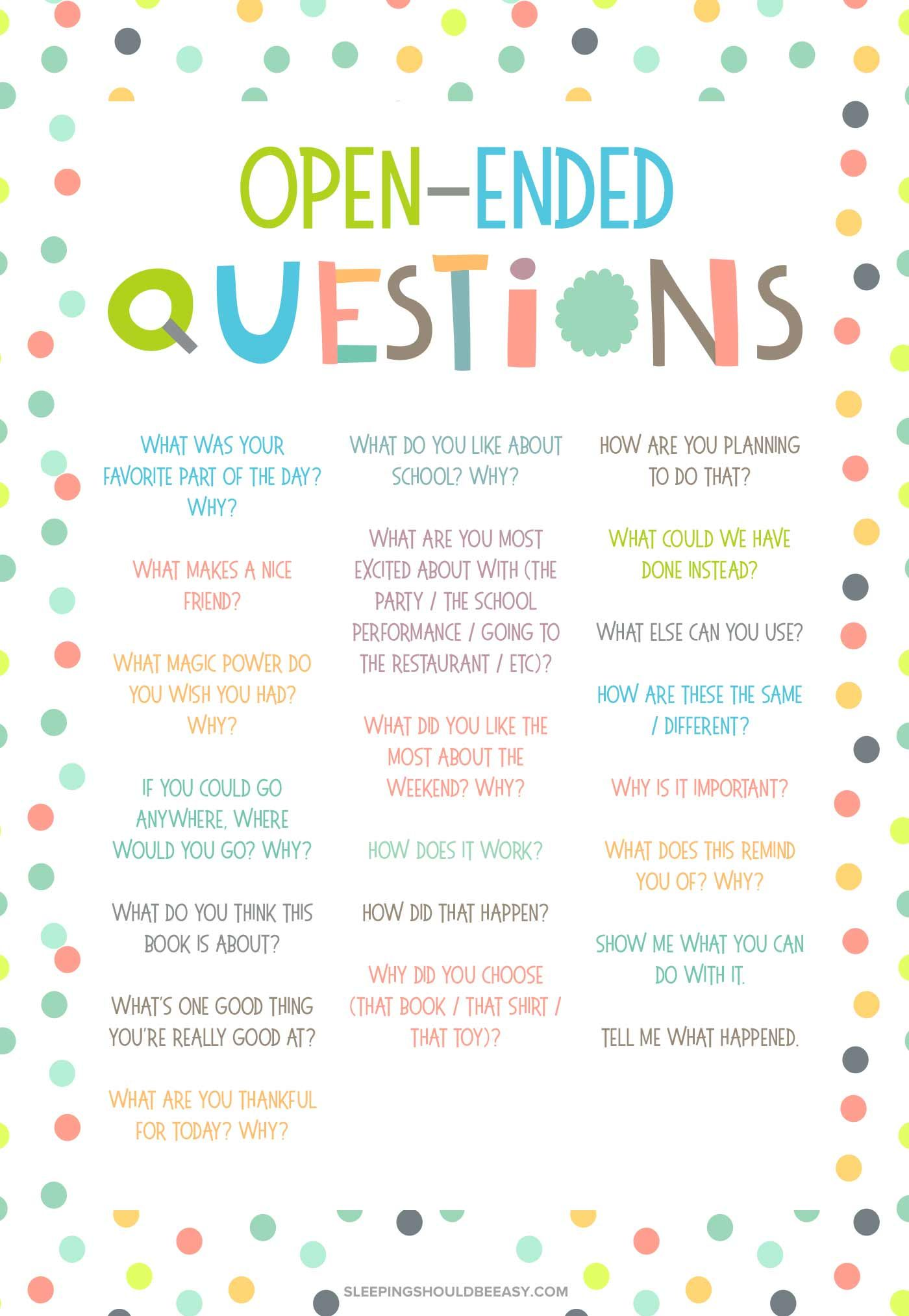 20 Open Ended Questions For Kids Conversation Starters For Kids Social Emotional Learning This Or That Questions