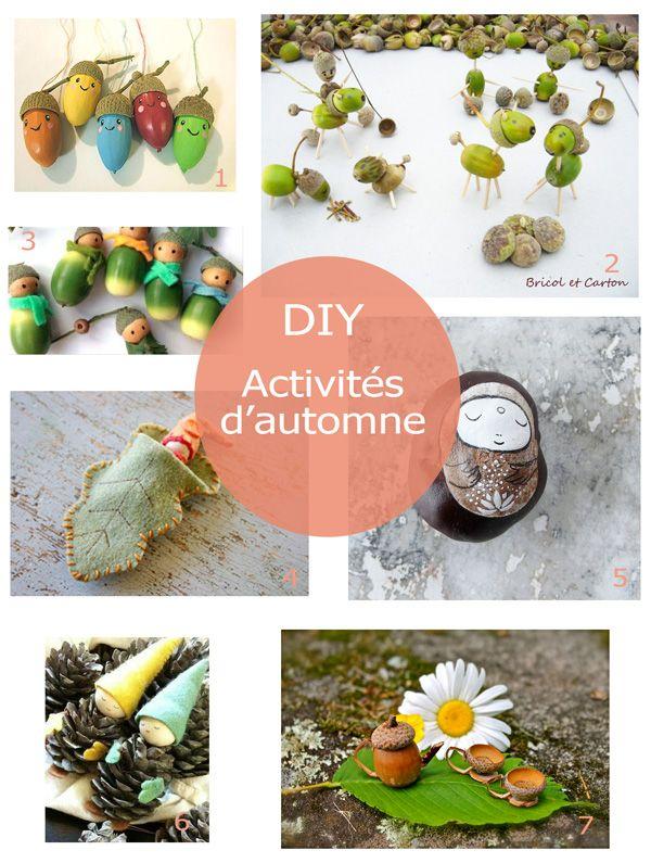 diy activit s d automne pour enfants avec des glands et. Black Bedroom Furniture Sets. Home Design Ideas