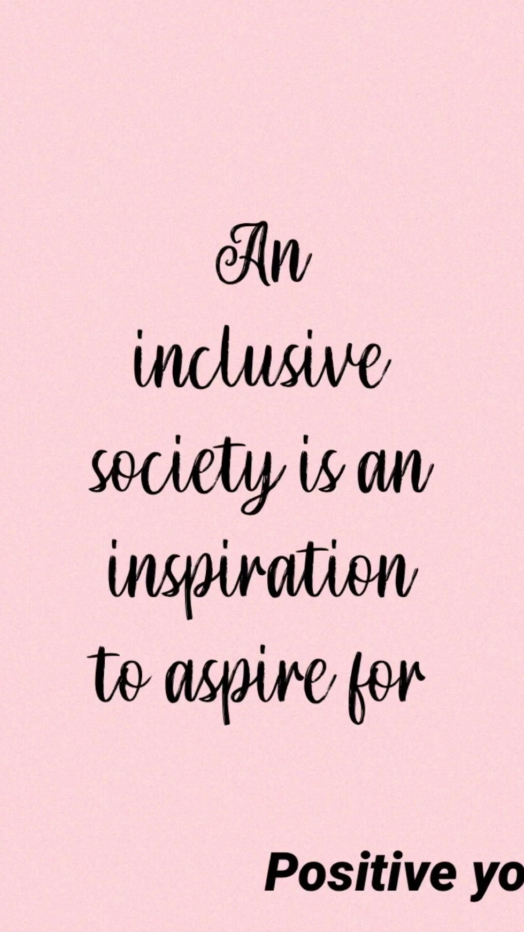 An inclusive society