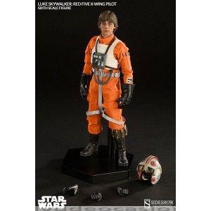 FIGURA ESTATUA STAR WARS - LUKE SKYWALKER PILOTO … en Dvd de Ocasión, Sideshow Collectibles presenta esta figura de Luke Skywalker, de la saga de La Guerra de las Galaxias, con su uniforme de piloto