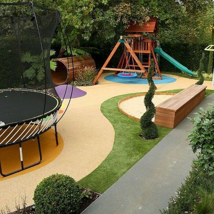 40 Best Large Backyard Ideas on a Budget #backyard # ... on Small Sloped Backyard Ideas On A Budget id=53403