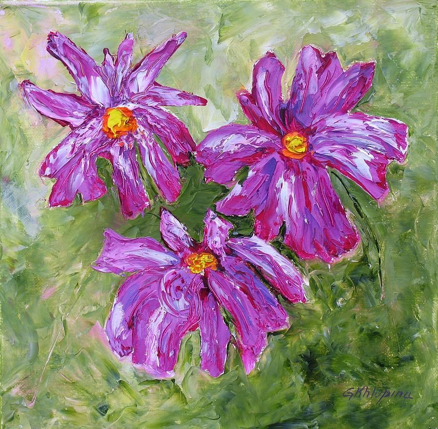 simple oil paintings of flowers simple flowers painting