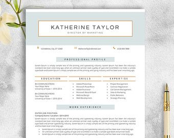 resume template with references