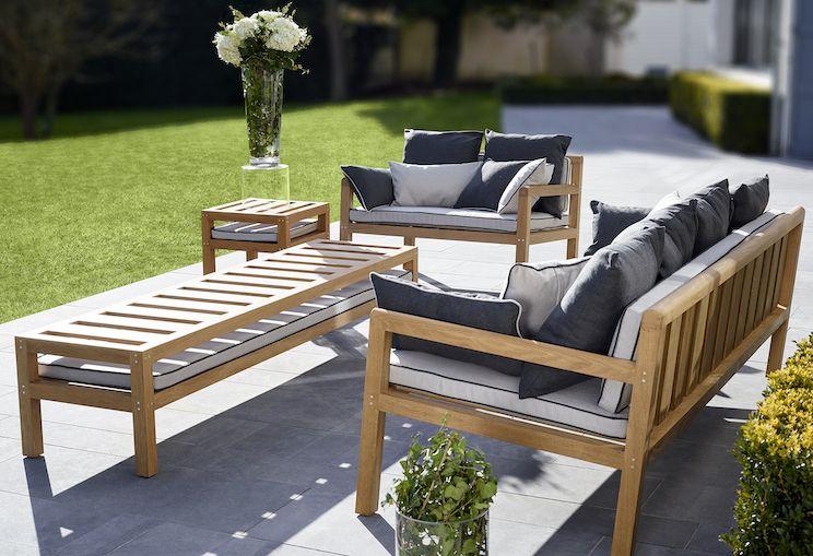 Salon de jardin en bois à personnaliser en choisissant parmi ...