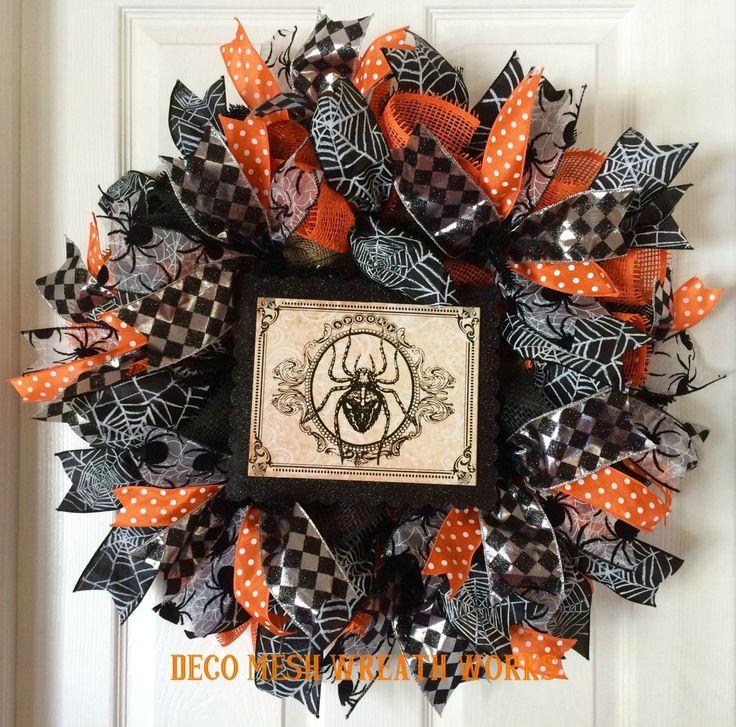 Halloween Wreath, Halloween Wreaths, Vintage Halloween Wreath