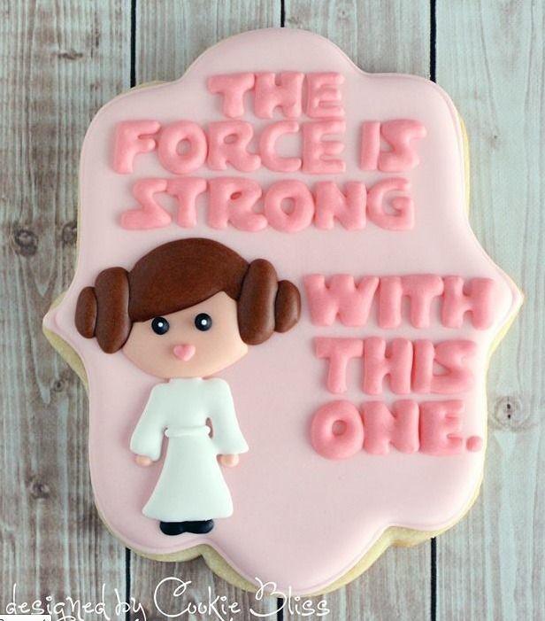 Star Wars baby shower cookie baby shower ideas Pinterest Star