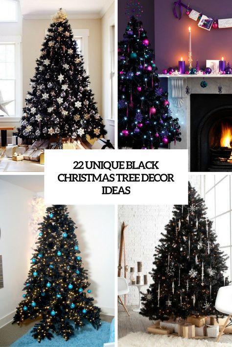 black christmas tree decor ideas cover Christmas 2017 Pinterest