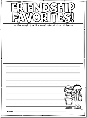 friendship writing prompts Character building writing prompts focus: positive behavior skills for the middle and high every english class does the same writing prompt this is then read on the announcements the let's practice making new friends, but remember, you don't need to forget your old friends.