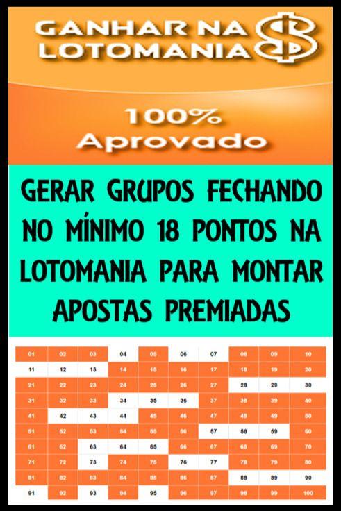 Monte Grupos Fechando No Minimo Os 18 Pontos Da Lotomania E Tenha