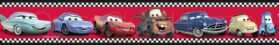 Disney Cars Checkered Wallpaper Border