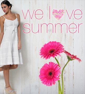 Hübsche Sommerkleider  und Oberteile aus leichter Baumwolle in der Trendfarbe, WEISS!