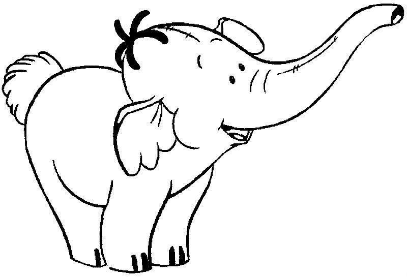 Baby Elephant Coloring Pages | Cute Elephant Coloring Page
