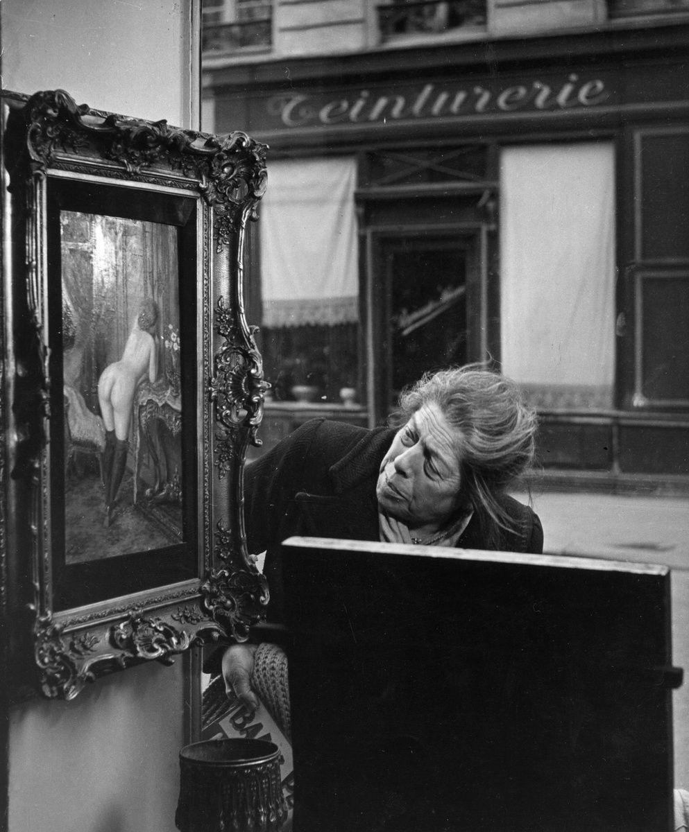 Robert Doisneau.La Vitrine Galerie Romi, 6éme Arrondissement.1949.Vintage silver gelatin print cm.