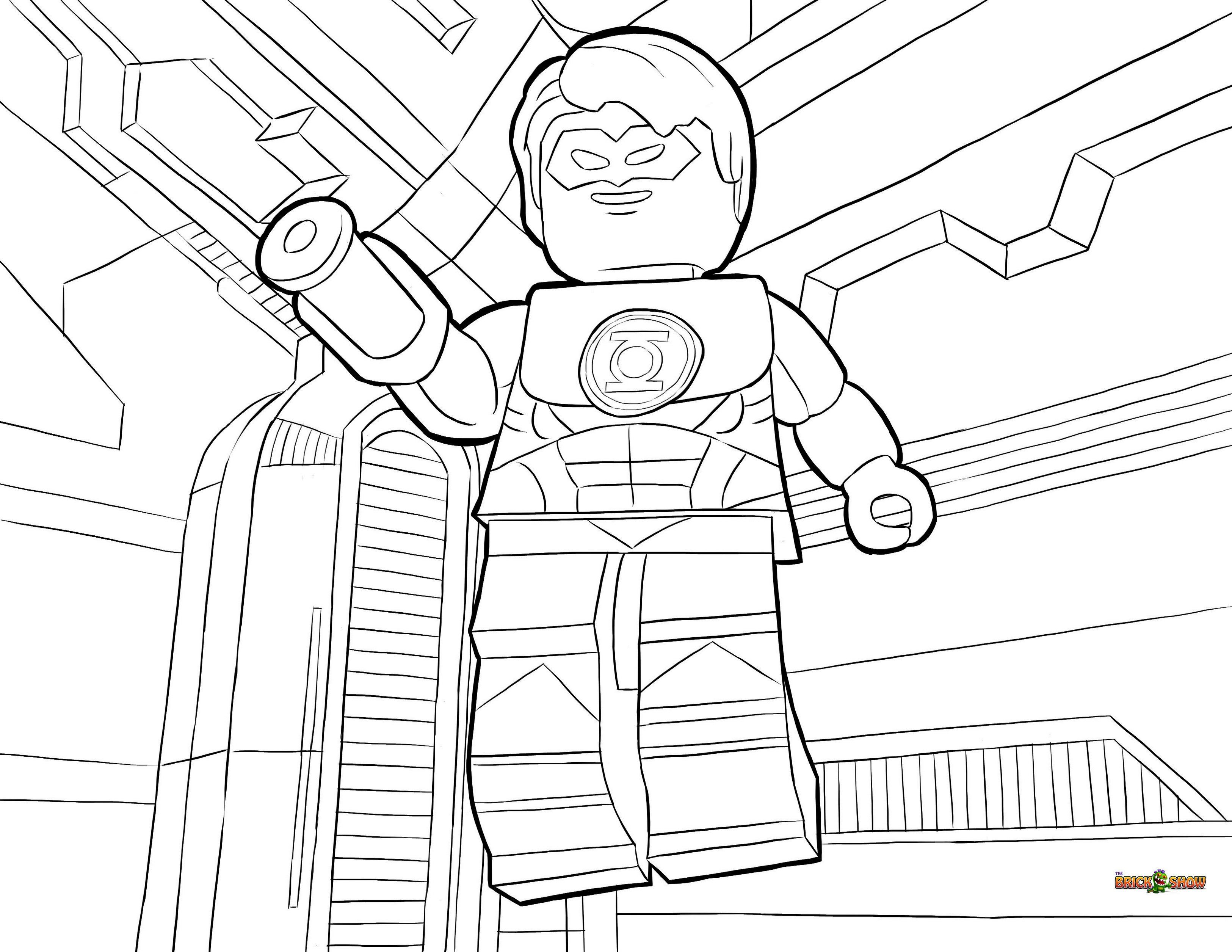 Lego Green Lantern Coloring Book | superhero coloring and activity ...