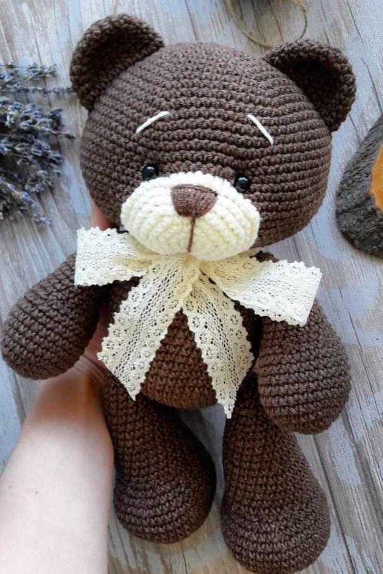 Free Crochet Pattern for an Amigurumi Teddy Bear in a Sweater ... | 1125x750