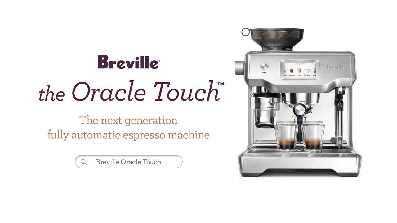 Breville Oracle Touch Espresso Machine Bes990 Stainless Steel Video In 2020 Espresso Machine Breville Coffee Machine