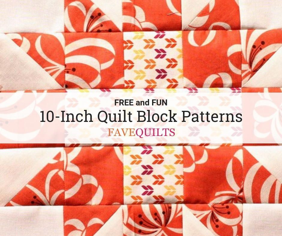 free 10 inch quilt block patterns