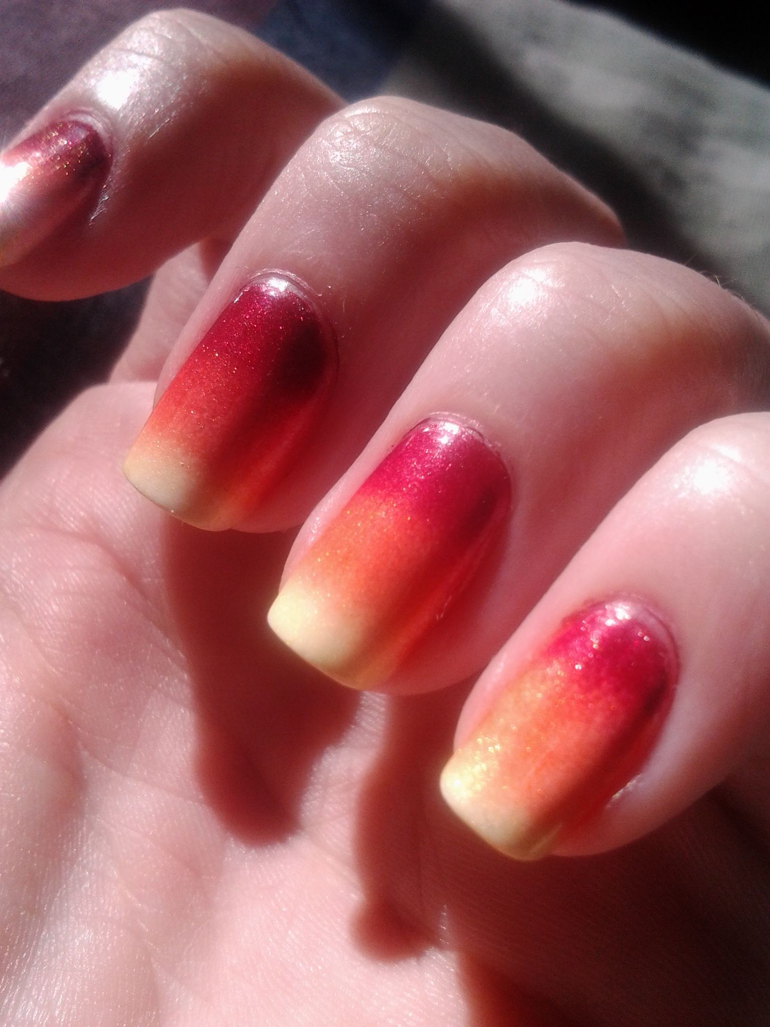 Fiery Nails..Used 4 Products.. NINE ULTRA PRO Nail Enamel in Evening ...