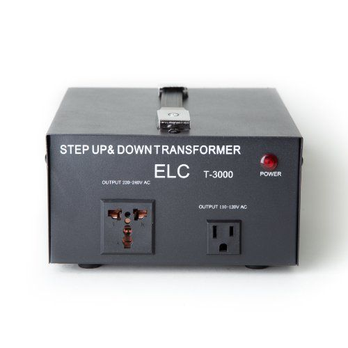 Elc T 3000 3000 Watt Voltage Converter Transformer Step Up Down 110v 220v Circuit Breaker Protection Speakers Voltage Converter Step Down Transformer Transformers