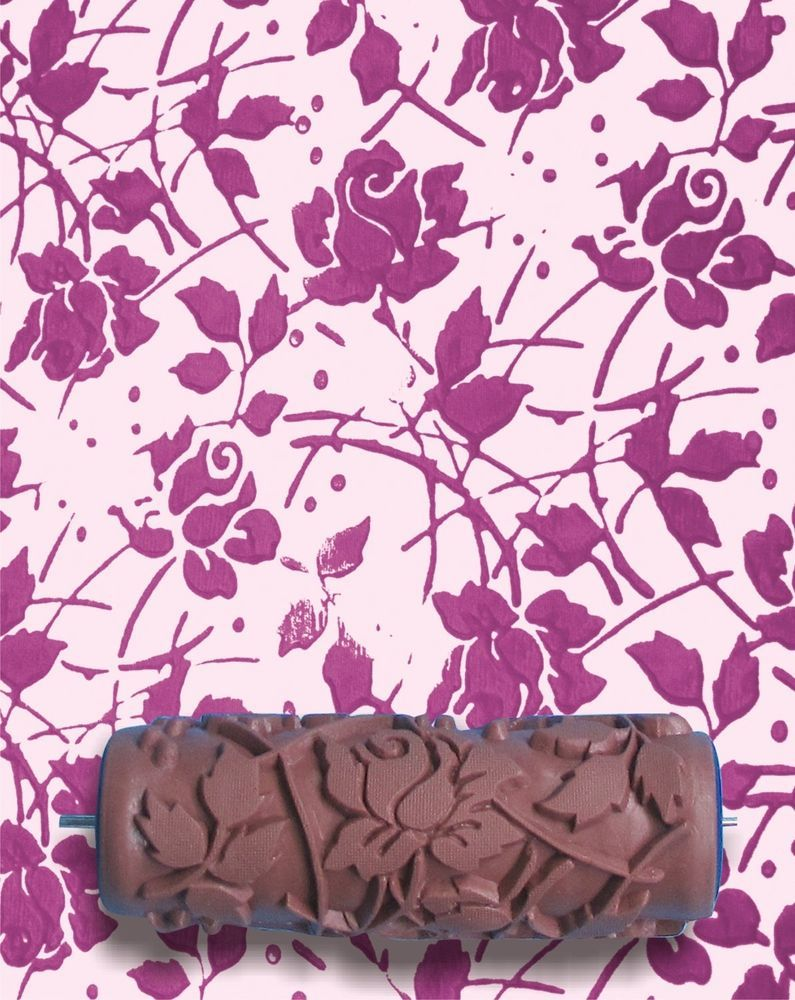 Wild Roses Diy Pattern Paint Roller 15cm Wall Texture Decoration
