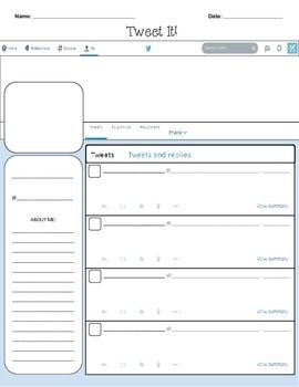 Twitter Template  Blank  Twitter Template Activities And School