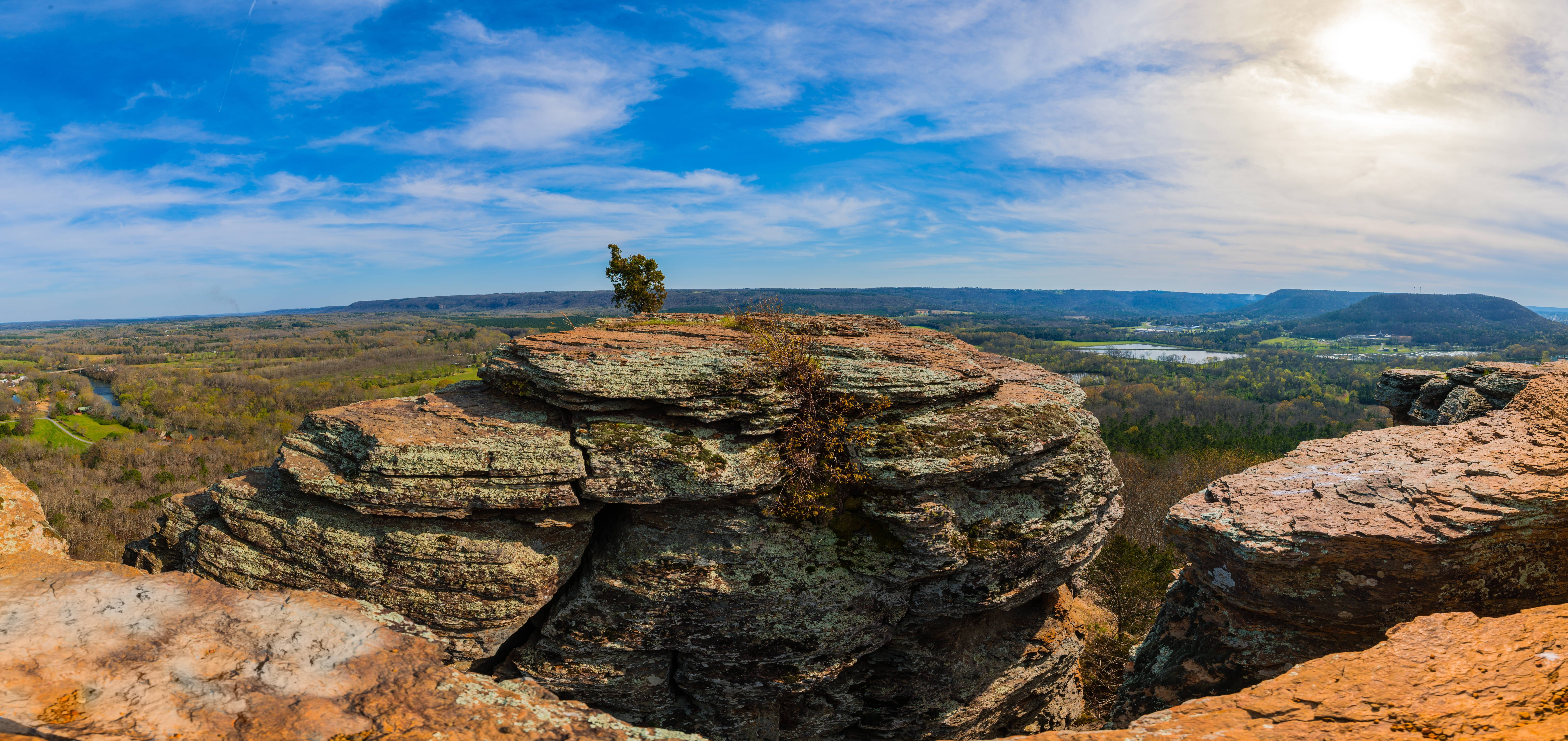 Hiking In Heber Springs Ar Sugarloaf Mountain Panorama Oc 9516x4499 Heber Springs Pretty Places Day Trips