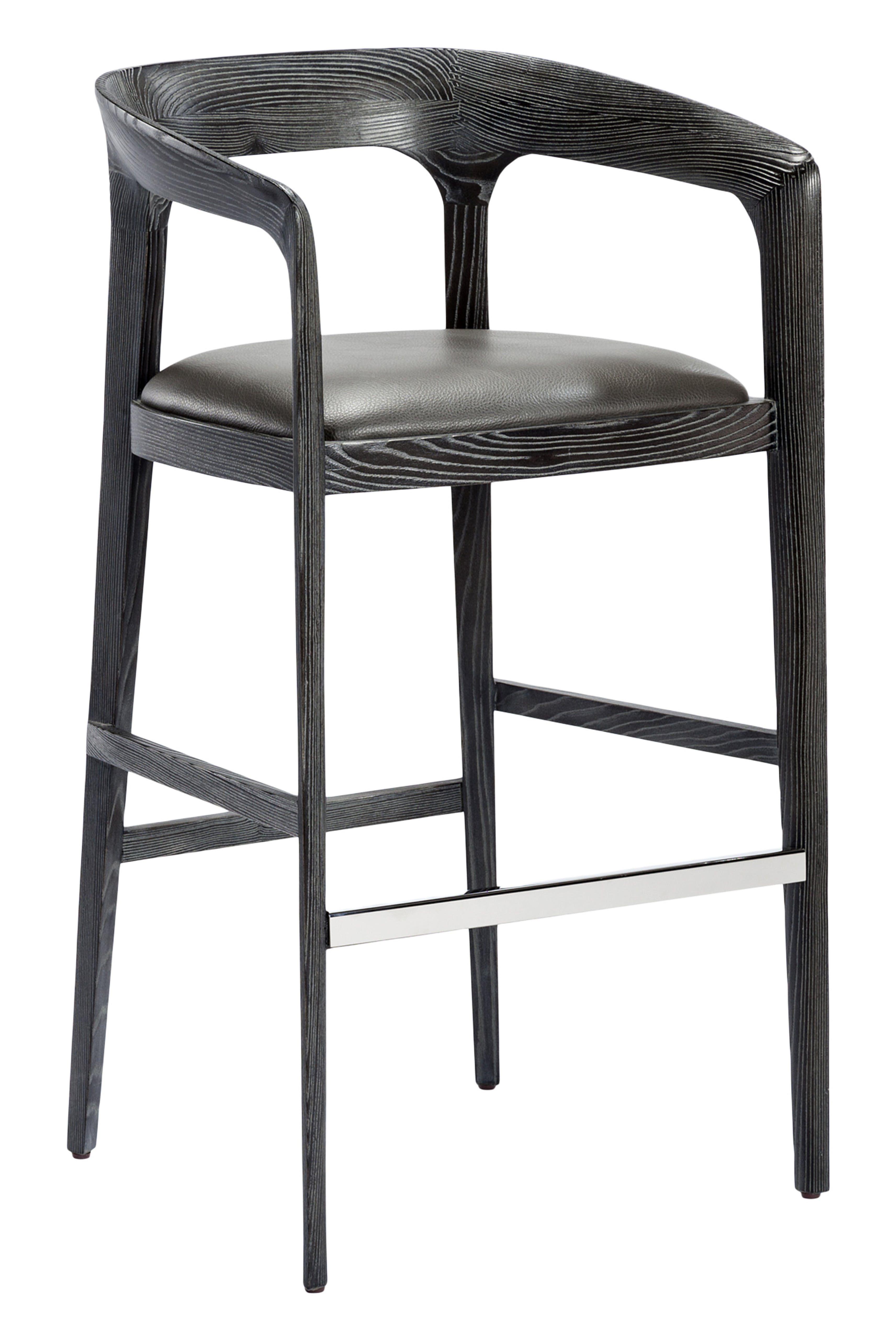 Interlude Home Kendra Bar Stool Grey Furniture Furniture Seating