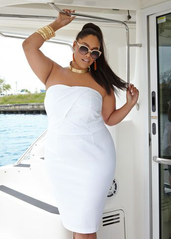 Plus Size Outfits - Just Right in Gold and White | White ...