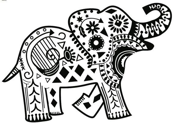 coloring page elephant design dudeindisneycom - Coloring Page Elephant Design